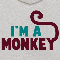 I'm a monkey cute! with tail Sweatshirts