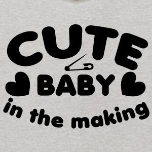 cute baby in the making with a safety pin for a young one  Sweatshirts - Kids' Hoodie