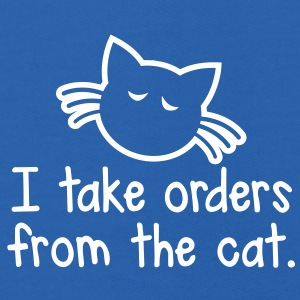 I TAKE ORDERS FROM THE CAT with cute little cat design Sweatshirts - Kids' Hoodie