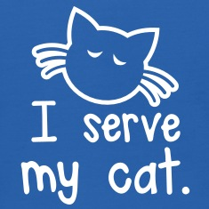 I SERVE MY CAT with cute little kitty face Sweatshirts