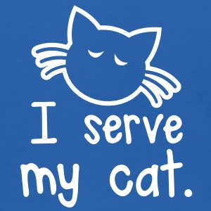 I SERVE MY CAT with cute little kitty face Sweatshirts - Kids' Hoodie