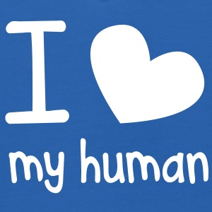 I LOVE MY HUMAN perfect for pet owners and lovers Sweatshirts - Kids' Hoodie