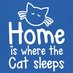 HOME is where the CAT SLEEPS cute little cat design Sweatshirts