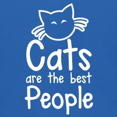 CATS are the best people! with cute little kitty cat and whiskers Sweatshirts