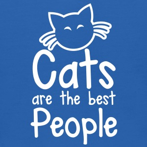 CATS are the best people! with cute little kitty cat and whiskers Sweatshirts - Kids' Hoodie