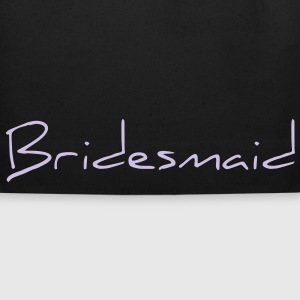 Bridesmaid Text Word Graphic Design Picture Vector Bags  - Eco-Friendly Cotton Tote