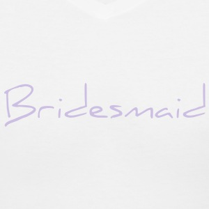 Bridesmaid Text Word Graphic Design Picture Vector Women's T-Shirts - Women's V-Neck T-Shirt