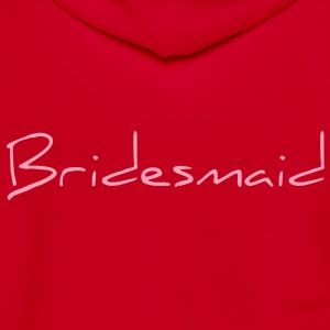 Bridesmaid Text Word Graphic Design Picture Vector Zip Hoodies/Jackets - Unisex Fleece Zip Hoodie by American Apparel