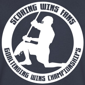 Goaltending Wins Championships (lacrosse) T-Shirts - Men's V-Neck T-Shirt by Canvas