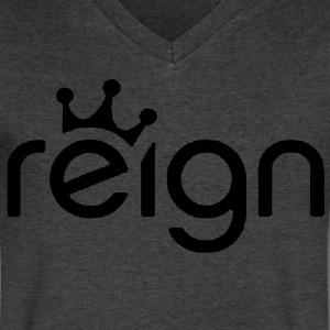 reign king t-shirts - Men's V-Neck T-Shirt by Canvas