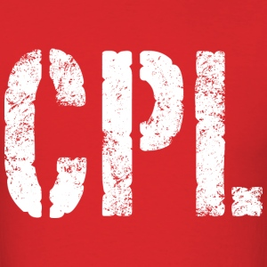 CPL military rank distressed - Men's T-Shirt
