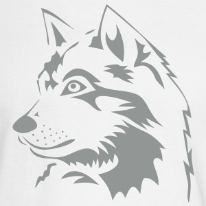 wolf wolves pack hunter predator howling wild wilderness dog husky malamut Long Sleeve Shirts - Men's Long Sleeve T-Shirt