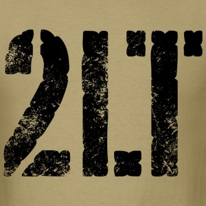 2LT army rank distressed black print - Men's T-Shirt