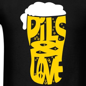 Pils and love flex T-shirts - T-shirt pour hommes