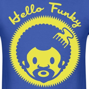 Hello funky new flex T-Shirts - Men's T-Shirt