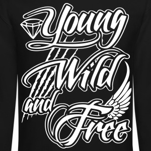 Young, Wild, and Free Long Sleeve Shirts - stayflyclothing.com - Crewneck Sweatshirt