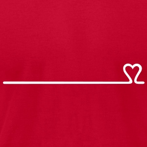 love line (1c) T-Shirts - Men's T-Shirt by American Apparel