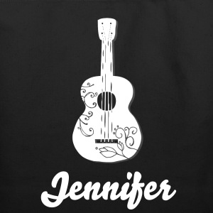 Swirly Guitar with Custom Name - Eco-Friendly Cotton Tote