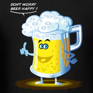 Beer happy toon T-Shirts - Men's T-Shirt