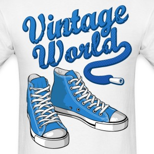 Blue vintage sneakers T-Shirts - Men's T-Shirt