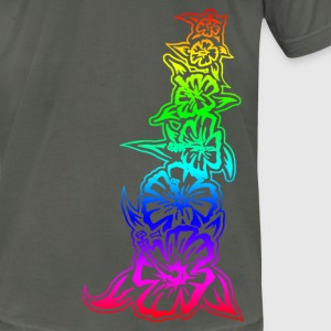 Rainbow Tower fitted - Men's T-Shirt by American Apparel