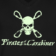 Pirates of the Carabiner (3-color vector) T-Shirts