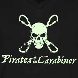 Pirates of the Carabiner (3-color vector) T-Shirts - Men's V-Neck T-Shirt by Canvas