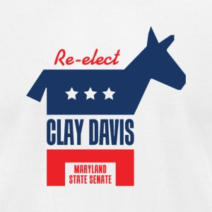 Re-elect Clay Davis T-Shirt (White) - Men's T-Shirt by American Apparel