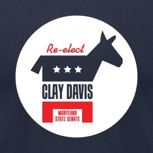 Re-elect Clay Davis T-Shirt (Navy) - Men's T-Shirt by American Apparel