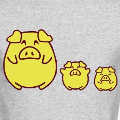 three cute pigs Long Sleeve Shirts