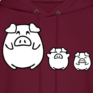 three cute pigs Hoodies - Men's Hoodie