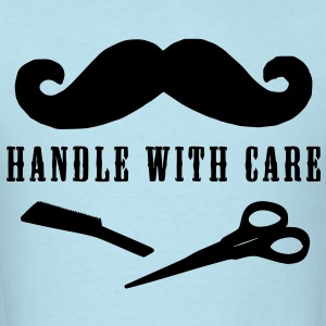 moustache handle with care T-Shirts - Men's T-Shirt