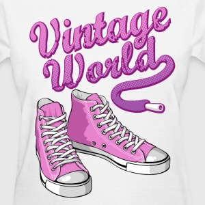 Pink vintage sneakers Women's T-Shirts - Women's T-Shirt