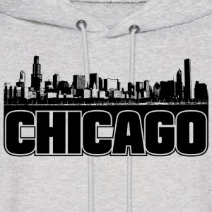 Chicago Skyline Hooded Sweatshirt - Men's Hoodie