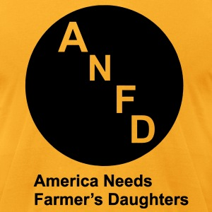 America Needs Farmer's Daughters T-Shirts - Men's T-Shirt by American Apparel
