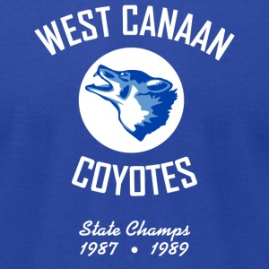West Canaan Coyotes T-Shirt (Royal) - Men's T-Shirt by American Apparel