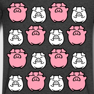 cute pig allover T-Shirts - Men's V-Neck T-Shirt by Canvas