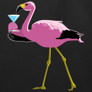 Pink Flamingo Drinking A Martini - Eco-Friendly Cotton Tote