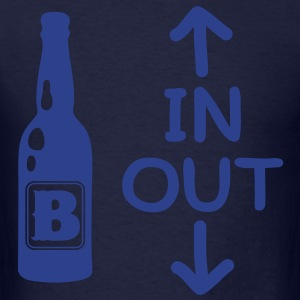 Beer In And Out - Men's T-Shirt