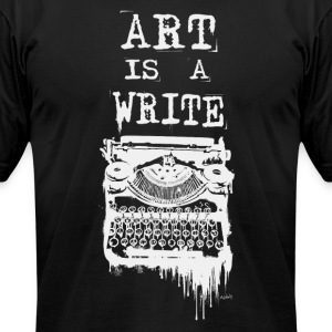 Art is a Write (White Print) T-Shirts - Men's T-Shirt by American Apparel