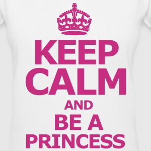 Keep Calm and be a princess - Women's V-Neck T-Shirt