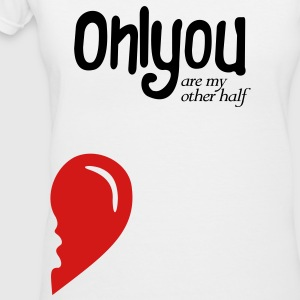 Only you my other half RIght Side - Women's V-Neck T-Shirt