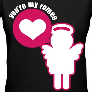 He's My Romeo - Women's V-Neck T-Shirt