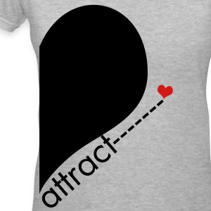Opposite Attract Right SIde - Women's V-Neck T-Shirt