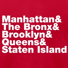 Five Boroughs ~ New York City T-Shirts