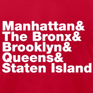 Five Boroughs ~ New York City T-Shirts - Men's T-Shirt by American Apparel