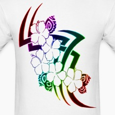 Neon Rainbow Tribal Flowers