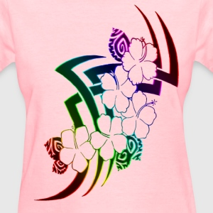 Neon Rainbow Tribal Flowers women - Women's T-Shirt
