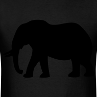 Design ~ Camouflage Elephant Flex Print Graphic Tee