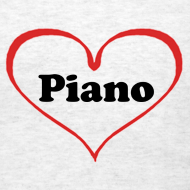 Design ~ I Love Piano T-Shirt